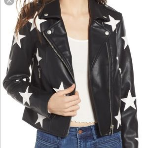BRAND NEW BLANK NYC STAR LEATHER JACKET!!